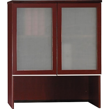 Bush Milano2 Bookcase Hutch, Harvest Cherry, Fully Assembled