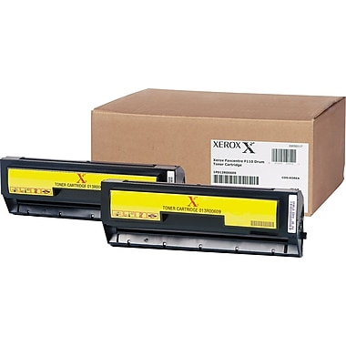 Xerox FaxCentre F110 Black Toner Cartridge (013R00609), 2/Pack