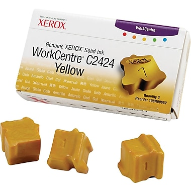 Xerox WorkCentre C2424 Yellow Solid Ink (108R00662), 3/Pack