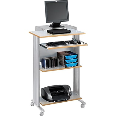 Safco Fixed Height Stand-Up Computer Workstation, Gray