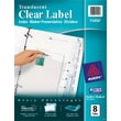Avery® Index Maker® Translucent Clear Label Tab Dividers, 8-Tab, Clear, 1 Set/Pack