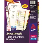 Avery® Ready Index Multicolor Table of Contents Dividers, 10-Tab