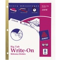 Avery® Write-On™ BIG TAB Dividers, 8-Tab Set, White Tabs
