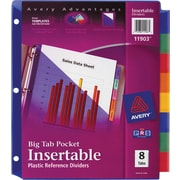 Avery® Slash Pocket Insertable Tab Dividers, 8-Tab