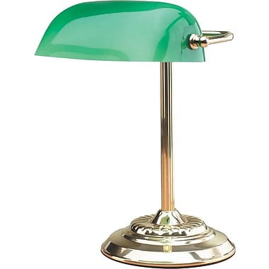 Catalina Lighting Bankers Lamp, 60W, Brass