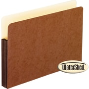 "Pendaflex® WaterShed® 3-1/2"" Top Tab File Pockets, Letter Size, Brown, 10/Box (35247)"