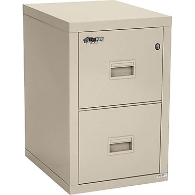 FireKing Turtle 2 Drawer Fire Resistant Vertical File, Putty/Beige,Letter/Legal, 17.68''W (2R1822CPAD)
