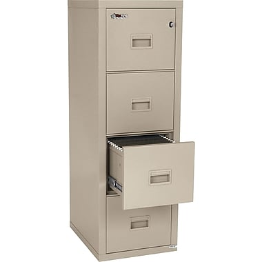 FireKing 1-Hour 4-Drawer Fire Resistant Compact Turtle Vertical File Cabinet, Inside Delivery