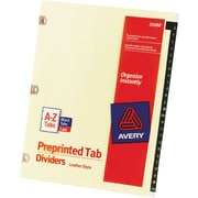 "Avery Leather Alphabetical Tab Dividers, Copper Reinforced, 8 1/2"" x 11"", A-Z"