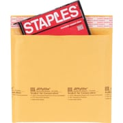 Staples® QuickStrip Bubble Wrap® Cushioned CD Mailers, 7-1/4in. x 7-1/4in., 12/Pack