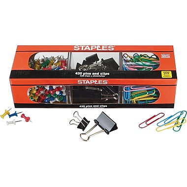 Staples® Clip and Pin Value Pack