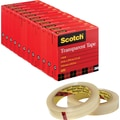 Scotch® Transparent Tape 600, 3/4in.x72 yds, 3in. Core, 12/Pack