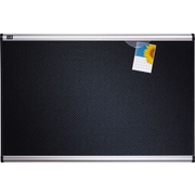 Quartet® 4' x 3' Prestige® Black Embossed Foam Bulletin Board with Aluminum Frames