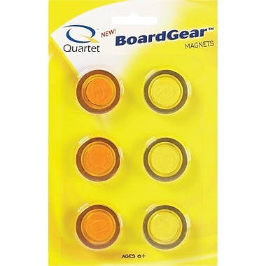 Quartet® Translucent Magnets, 6/Pack