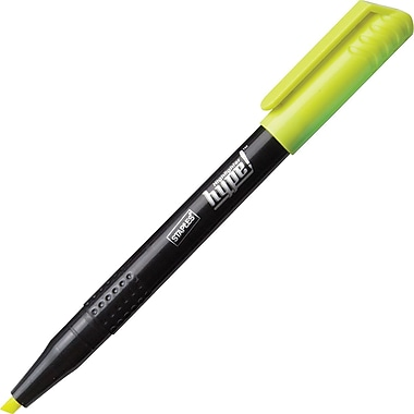 Staples® Hype!™ Pen-Style Highlighters, Yellow, 6/Pack