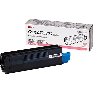 Okidata 42127402 Magenta Toner Cartridge, High Yield