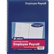 "Adams® Employee Payroll Record Book, 8-1/2"" x 11"""