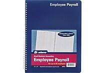 Adams® Employee Payroll Record Book, 8-1/2' x 11'