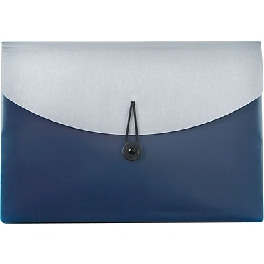 Pendaflex® Poly Slide File w/ Four Pockets, Blue/Silver, Letter, Each