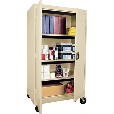 Sandusky Large Mobile Storage Cabinet, 60in.H x 36in.W x 24in.D, Putty
