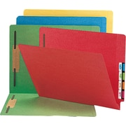 Smead Colored Reinforced End-Tab Fastener Folders, LETTER-size Holds 8 1/2 x 11, Assorted Colors, 50/Bx