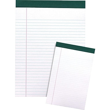 Staples® 100% Recycled Perforated Notepads, 12/Pack