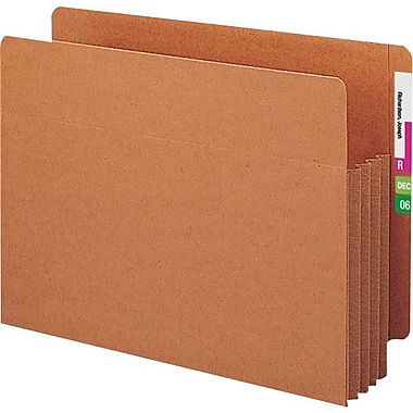 Smead® End-Tab Tuff Pocket® Expanding File Pockets, Letter , 5 1/4in. Expansion, 10/Box
