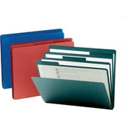 Smead® Assorted Top-Tab Organizer File Folders w/ Built-In Dividers, Letter, 3 Tab, 3/Pack