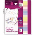8-Tab Set Avery Protect 'n Tab Sheet Protectors
