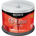 Sony 50/Pack 80-Minute CD-R Music, Spindle