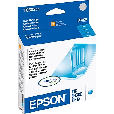 Epson T0602 Cyan Ink Cartridge (T060220)