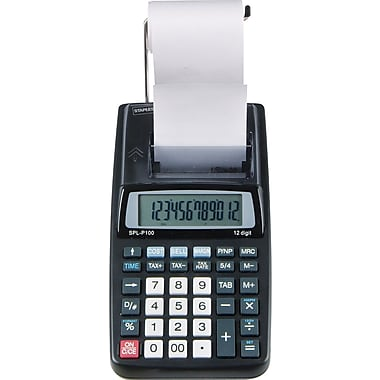 Staples® SPL-P100 Printing Calculator, 12-Digit