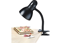 Tensor® Incandescent/CFL Gooseneck Clip Lamp, Black