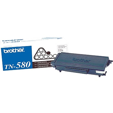 Brother TN-580 Black Toner Cartridge, High Yield