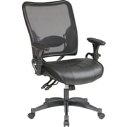 SPACE® Air Grid™ Professional Ergonomic Chair with Black Leather Seat