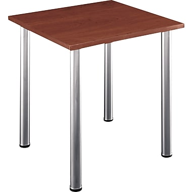 Bush Aspen 28in. Square Laminate Conference/Training Room Table, Hansen Cherry