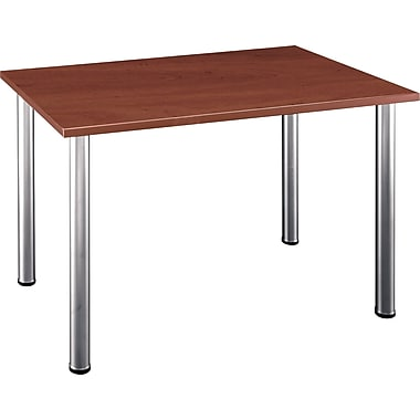 Bush Business Aspen 48W x 28-1/2D Rectangle Table, Hansen Cherry