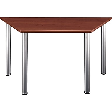 Bush Aspen 57in. Trapezoid Laminate  Conference Room/Training Room Table, Hansen Cherry