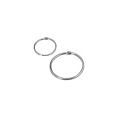 Book Rings, 2in. Diameter, Silver, 50/Box