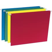 Staples® 100% Recycled Hanging File Folders, Letter, 5 Tab, Assorted Colors, 20/Box