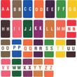 Ames Color-File® Alpha Labels, Letter V, Pink
