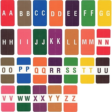 Ames Color-File® Alpha Labels, Letter Q, Orange