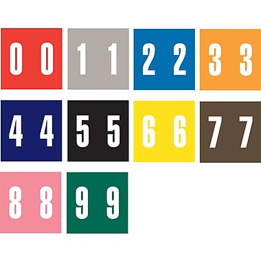 Ames Color-File® Numeric Labels, Number 0