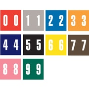 Ames Color-File® Numeric Labels, Number 3