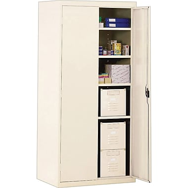 Sandusky Deluxe Steel Welded Storage Cabinet, 72in.H x 36in.W x 18in.D, Putty