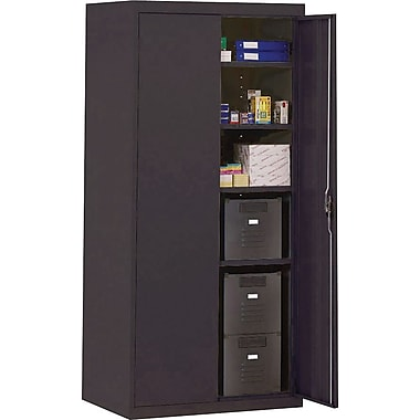 Sandusky Deluxe Steel Welded Storage Cabinet, 72in.H x 36in.W x 18in.D, Black