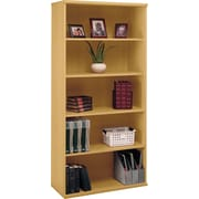 Bush Westfield 5-Shelf Bookcase, Danish Oak, Fully assembled