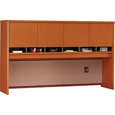 Bush Westfield 72in. 4-Door Hutch, Auburn Maple/Graphite Gray