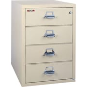 "FireKing/UNS 1-Hour 4-Drawer 38"" Fire Resistant Lateral File Cabinet Parchment, Inside Delivery"