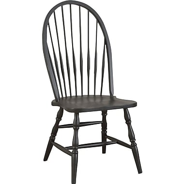 Carolina Cottage Collection Colonial Windsor Chair, Antique Black